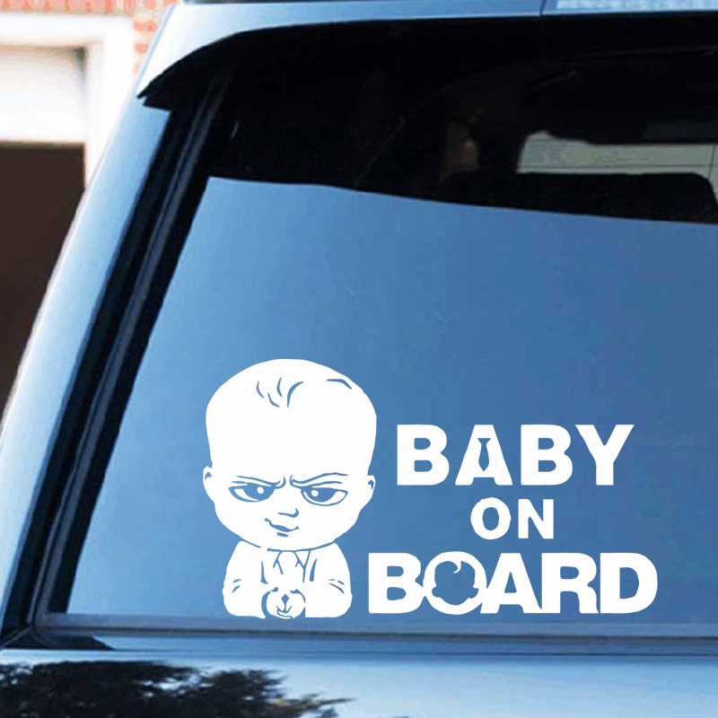 Cute Baby On Board Car Stickers Funny Ussr Car-Styling Funny Auto Sticker And Decal For Windows Body Decoaration Accessories
