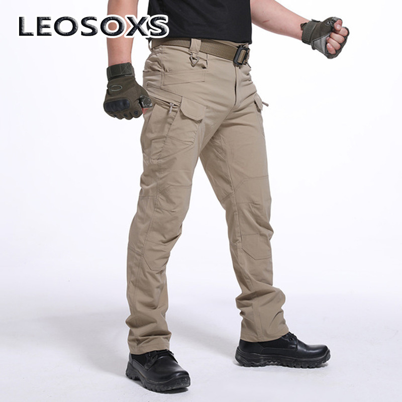 LEOSOXS Brand Tactical Camouflage Military Casual Combat Cargo Pants Water Repellent Ripstop Men's 3XL Trousers Spring Autumn