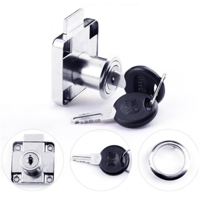 High-grade Not-universal Lock Keys 22mm Desk Drawer Lock Cold Rolled Steel Wardrobe Locks Cabinet Locks Furniture Cam Locks