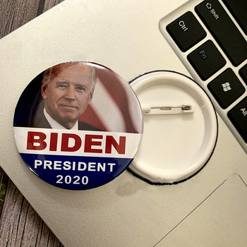 2020 Joe Biden USA President Vote Election Badges Brooch Collar Pin Metal Pins Button Biden Supporters Brooch Jewelry image