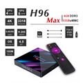 4GB 32GB Dual Wifi BT4.0 4K Android tv Box H96 Max Rk3318 Android 9 0 телеприставка