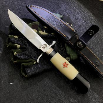 Rosyjski Nkvd zsrr Finka NKVD Survival polowanie Bowie noże Camping ostrze stałe prosto taktyczne noże nóż turystyczny tanie i dobre opinie NoEnName_Null Woodworking CN (pochodzenie) resin STEEL Nóż ze stałym ostrzem