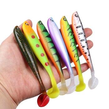 цена 3pcs/lot Soft Fishing Lure 13cm 10g Silicone Bait Shad Worms Bass Pike Minnow Swimbait Rubber Fish Lure High Quality онлайн в 2017 году