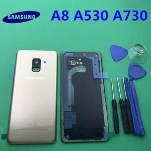Image 3 - Ersatz Original Hinten Panel Batterie Glas Zurück Tür Abdeckung Für Samsung Galaxy A8 A8plus 2018 A530 A530F A730 A730F + werkzeug
