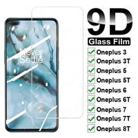 Protector de pantalla de cristal templado 9D para móvil, película protectora de cristal para Oneplus 8T 7T 6T 5T 6 5 3T 3 1 + 7 1 + 6 One Plus 7 Oneplus7 1 + 8T