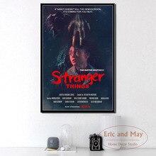 NUEVA TEMPORADA 3 DE Stranger Things serie de TV caliente mostrar arte pintura Vintage lienzo cartel pared decoración para el hogar