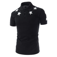ZOGAA Men Five -Pointed Star Print Silm Fit Summer Fashion Cotton Short Sleeve Tops Polo Shirt Plus Size polo ralphlauren men(China)