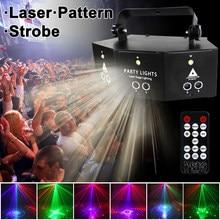WUZSTAR-proyector de luz láser DMX de 9 ojos, luces de Fiesta de DJ LED parpadeantes con Control de sonido activado, efecto de iluminación de escenario para Club y Bar