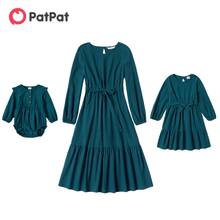Hem-Dresses Patpat Mommy New Me And Casual Autumn Cotton Lue Ruffle Arrivel