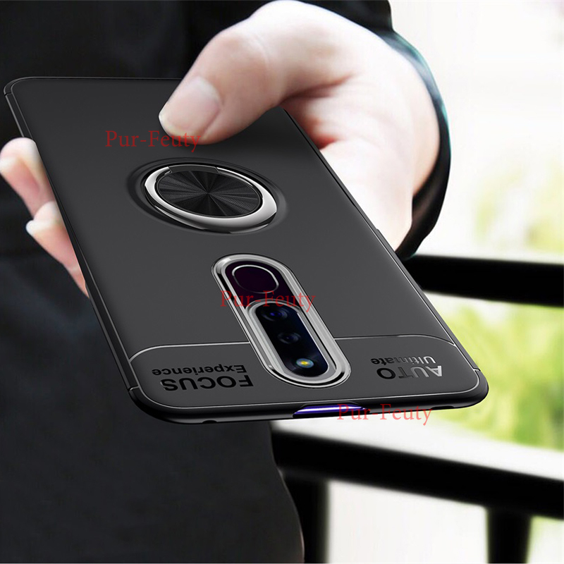 For <font><b>OPPO</b></font> <font><b>F11</b></font> F 11 <font><b>Pro</b></font> Silicone Rugged Armor TPU Soft <font><b>phone</b></font> Case Coque for <font><b>OPPO</b></font> <font><b>F11</b></font> <font><b>Pro</b></font> Car Bracket Rotate Ring <font><b>Phone</b></font> Back Cover image