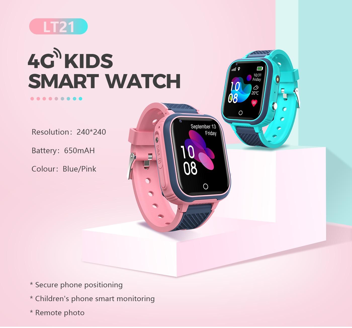 H8de26b44220c4168b1cd298868bfed5aI LT21 4G Smart Watch Kids GPS WIFI Video Call SOS IP67 Waterproof Child Smartwatch Camera Monitor Tracker Location Phone Watch