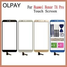 """Telefone móvel 5.7 """"polegadas touchscreen para huawei honor 7a pro AUM L29 tela de toque digitador do painel frontal lente vidro sensor"""