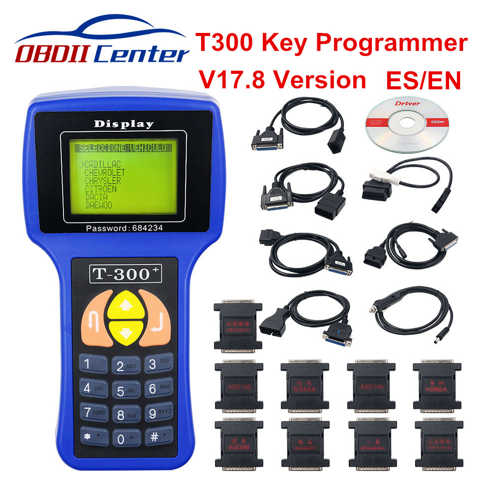 2 Color T-300 T300 Auto Key Programmer T Code T 300 Software 2017 V17.8 Support Multi Brand Cars T300 Key Maker Transponder