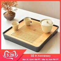 CAKEHOUD Kung Fu Cinese del Tè Set Tavolo Da Tè Servizio di Vassoio Di Bambù Vassoio Del Tè Piattino Viaggi Dry Bolla Vassoio Cerimonia Del Tè accessori
