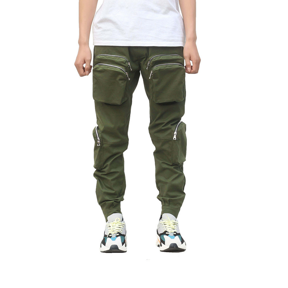 New Style Men's Sweatpants Plus Size Cargo Pants Fashion Brand Harem Pants Male  Beam Foot Rope Trends Zipper Casual Trousers
