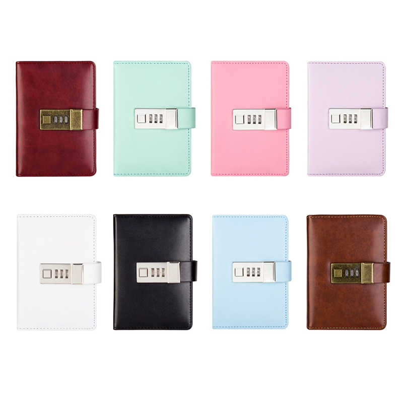 Notebook Paper Diary With Lock Code Password Notepad 96Sheets Note Book Office School Supplies Gift