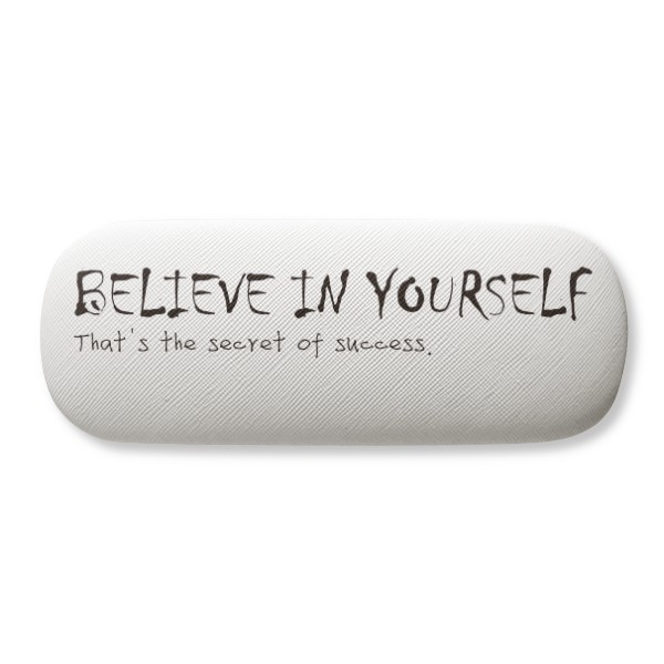 Quote You Can Change Yourself Glasses Case Eyeglasses Clam Shell Holder Storage Box
