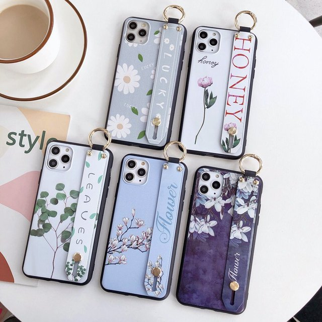 AXBETY pour Honor 8x 9X 20i mode fleur lanière Floop support étui pour Huawei Honor 10 Lite/P Smart 2019 nova 3i couverture souple