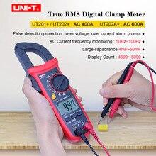 True RMS Digital Clamp Meter UNI-T UT201+UT202+UT202A+ AC DC voltage AC current tester NCV Multimeter false detection protection стоимость