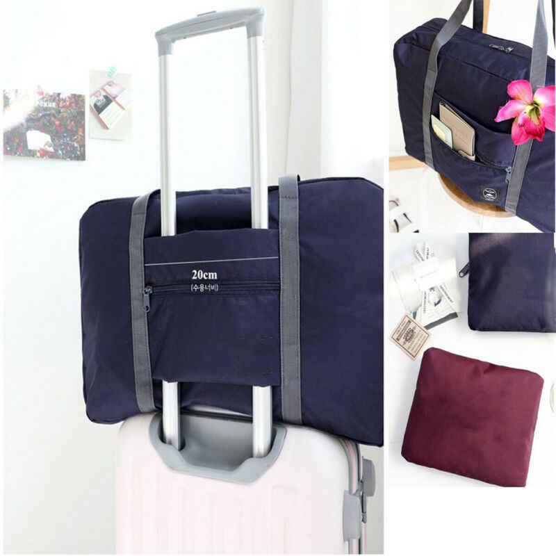 الأسهم المحلية طوي حقيبة كبيرة من القماش الخشن تخزين الأمتعة حقيبة سفر مقاوم للماء حمل حقيبة