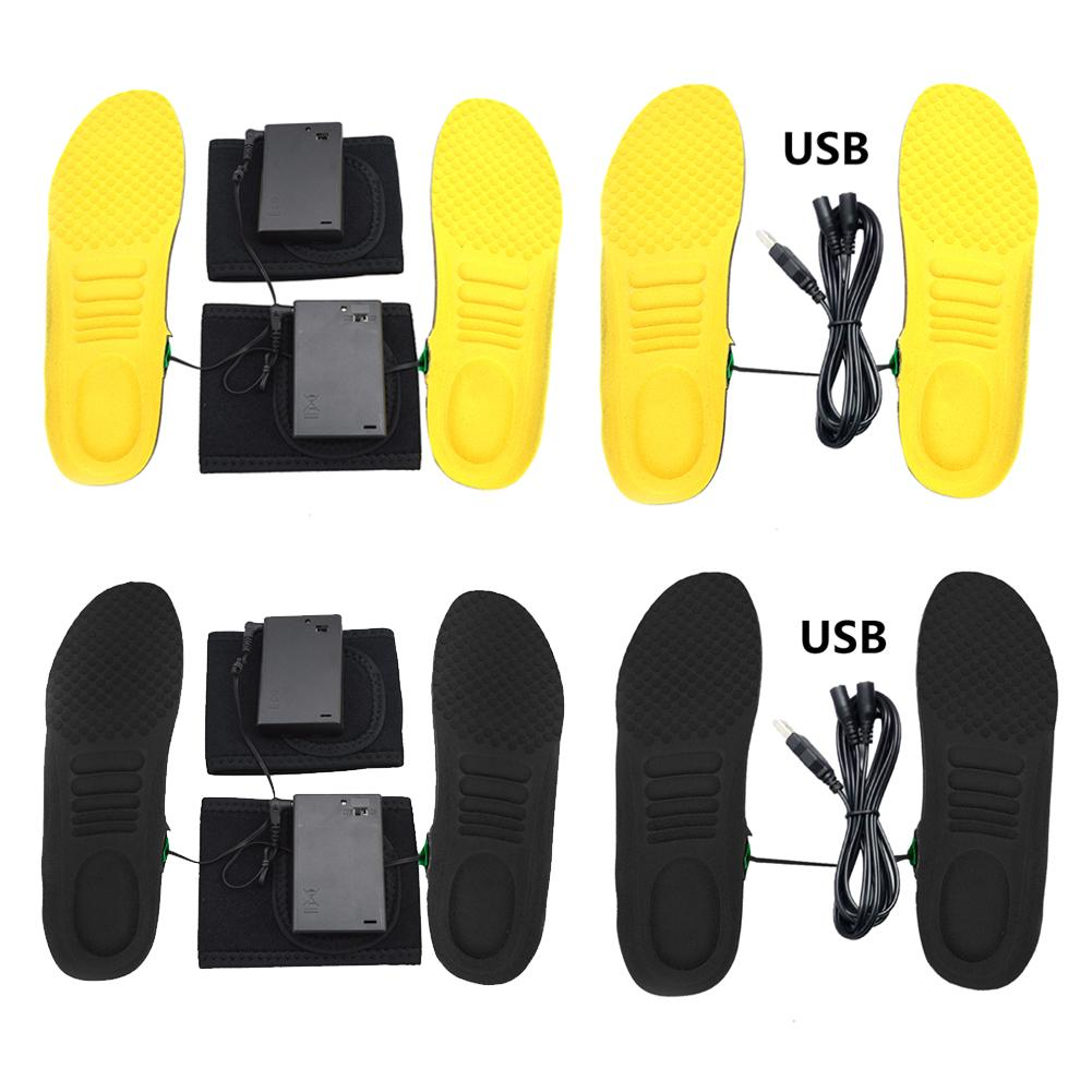 Charging Electric Heated Insoles Usb Pad Shoes Heater Foot Warmer Boots Winter