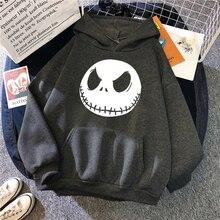 Men Sweatshirts Hoodie Skellington Jack Spring Streetwear Nightmare Christmas Before