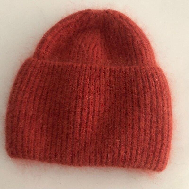 Купить повседневные новые зимние шапки однотонные из кроличьего меха
