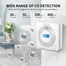 Smoke Gas Sensor CO Carbon Monoxide Detector 2 In 1 LED Digital Gas Smoke Alarm 85dB