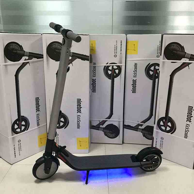 Foldable Adult Electric Scooter Original ES2 KickScooter Portable E-Bike 36V 300W Black App Electric Scootes Electric Bicycle