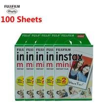 Fuji Fujifilm instax mini filmes 8 9 10 - 100 folhas de filmes para o instante de Borda branca mini 9 8 7s Câmera 90 Sp-2 9 25 50s Papel fotográfico