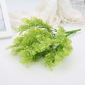 Simulación de planta en la pared material de decoración flor verde Cheng decoración con hierba balcón partición floral felpa