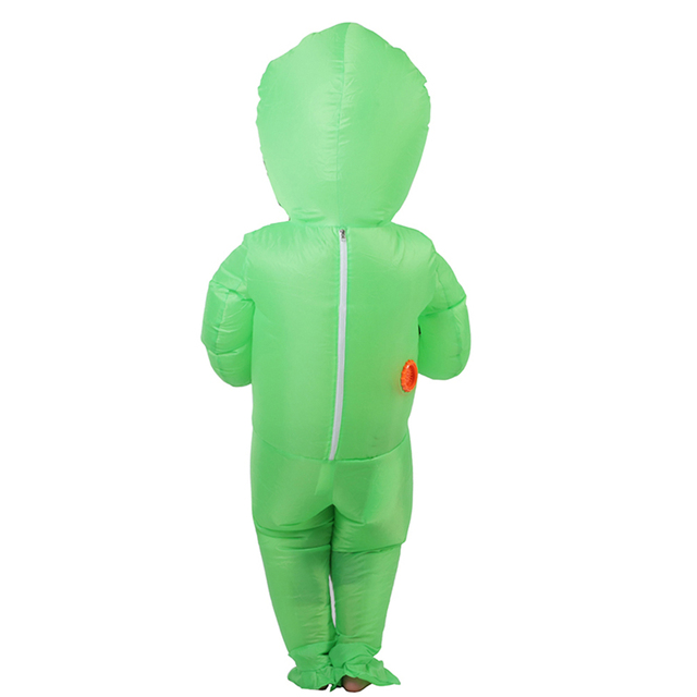 Halloween Costume For Women Men Inflatable Green Alien Cosplay children & Adult Funny Blow Up Pak Party Fancy Dress Party mask 2