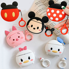 For AirPods 1 Case 3D Cute Cartoon Daisy Donald Piglet Mickey Minnie Wireless Earphone Cover for App