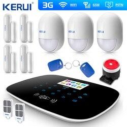 W193 3G 4G WIFI PSTN GSM SMS alarma de ladrón para hogar LCD GSM SMS pantalla táctil de seguridad de Alarma de intruso sistema de Control de la aplicación