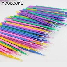 100 PCS Disposable Micro Brushes Applicator Mascara Wands for Eyelash Extensions Professional Lash extension Supplies Eye Brush