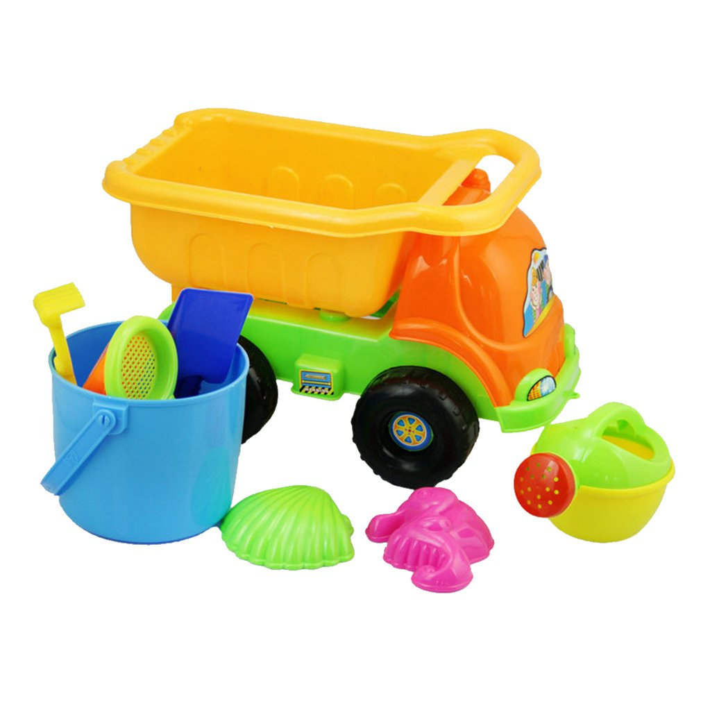9Pcs Beach Sand Toys Set Sand Beach Molds Beach Bucket Beach Shovel Tool Kit Sandbox Toys For Boys Girls
