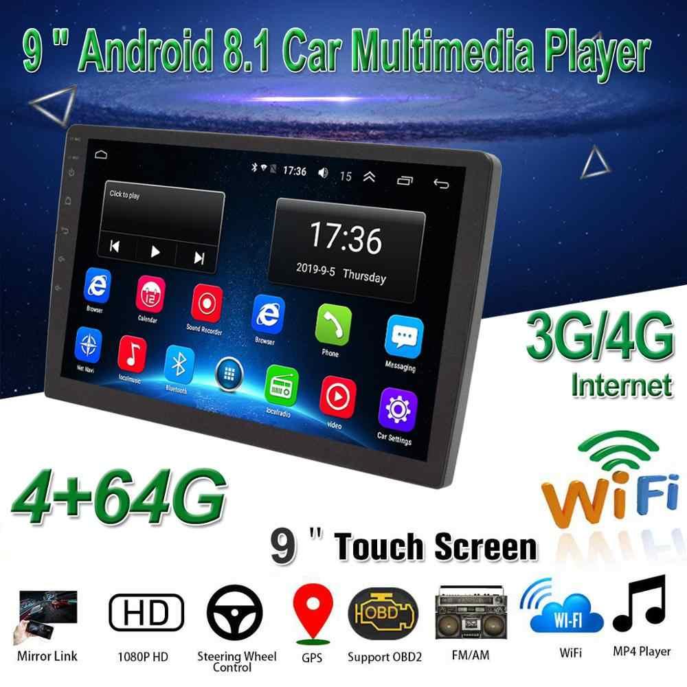 """9 """"アンドロイド 8.1 カーマルチメディアプレーヤーステレオラジオ、 GPS 、 BT WIFI/3 グラム/4 グラムオーディオ Mirrorlink MP5 プレーヤーリアカメラ"""