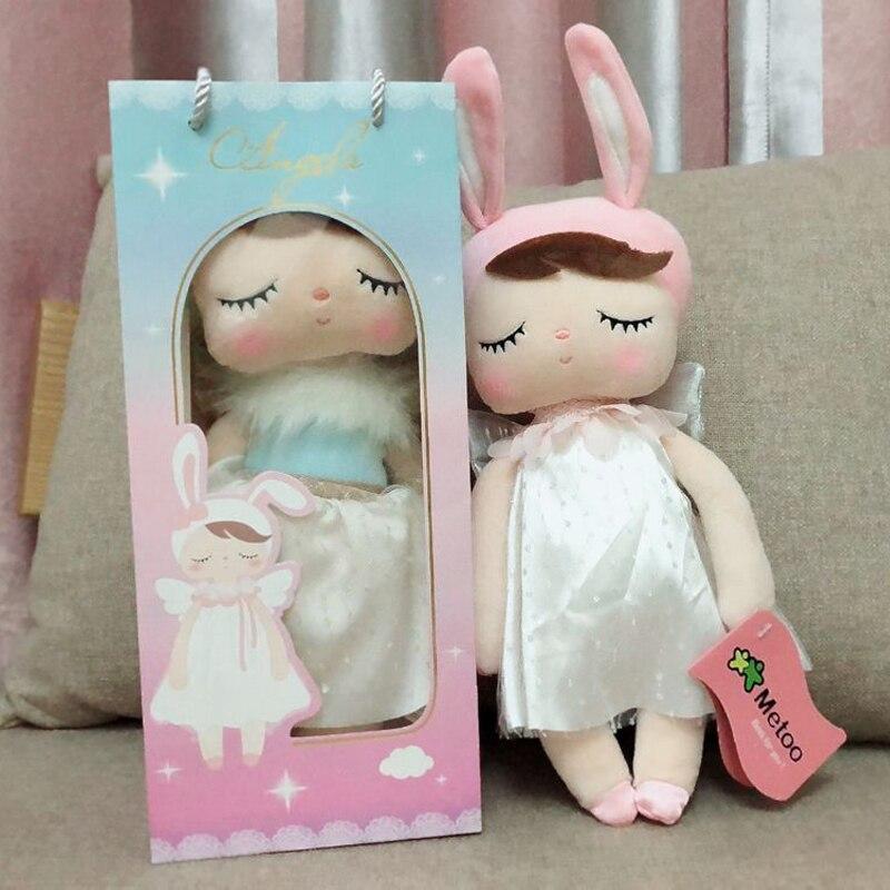 Metoo Original Doll Stuffed Plush Animals Dolls For Kids Girls Children Boys Baby Angela Rabbit Soft Cute Toys Birthday Gift
