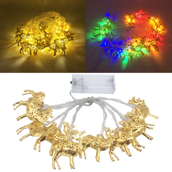 3m 20Lights LED String lights Battery Powered Fairy Gold Elk light Christmas New Year Wedding Decora