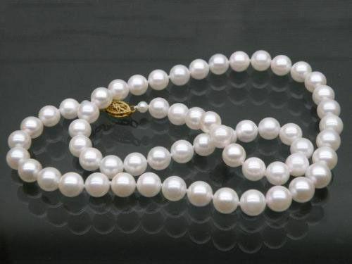 Véritable or jaune AAA 10-11mm beau collier de perles Akoya blanc 30
