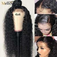 Peluca de cabello humano rizado con cierre de encaje, 5x5, 6x6, densidad del 150