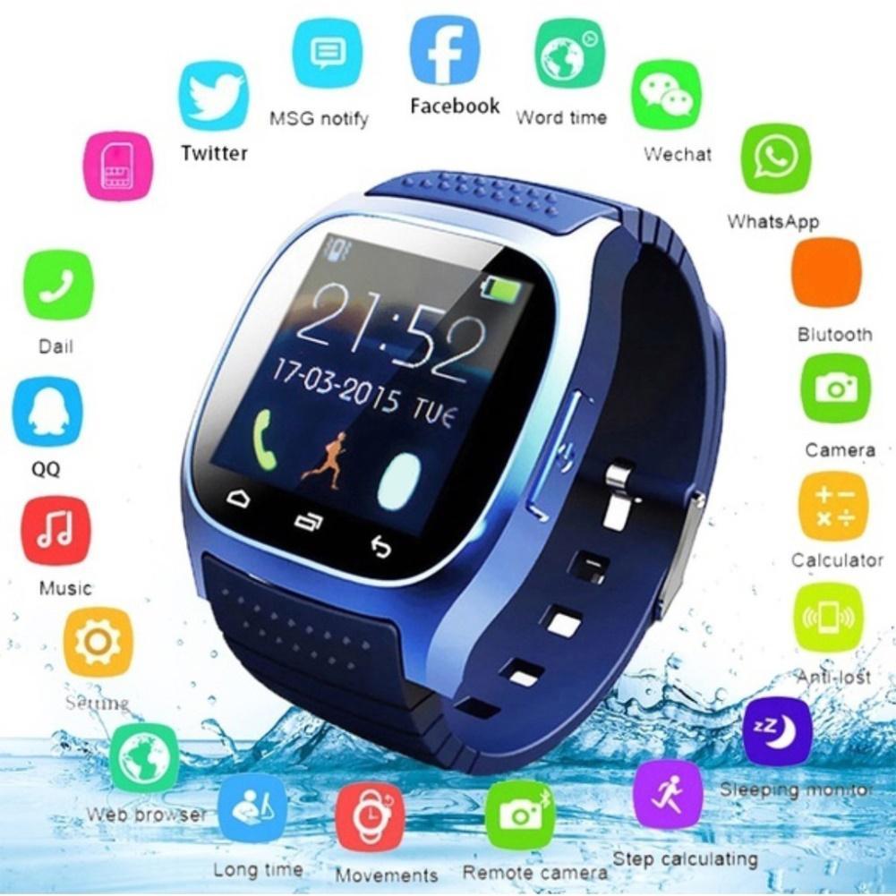 M26 водонепроницаемые Смарт-часы Bluetooth M26 Смарт-часы повседневные водонепроницаемый светодиодный дисплей для телефона Android синхронизация Ша...