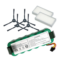 NI-MH 14 4 V 3500mAh panda X500 Batterie * 1 + Seite Pinsel * 4 + Hepa-Filter * 2 für Ecovacs Spiegel CR120 staubsauger für Dibea X500 X580