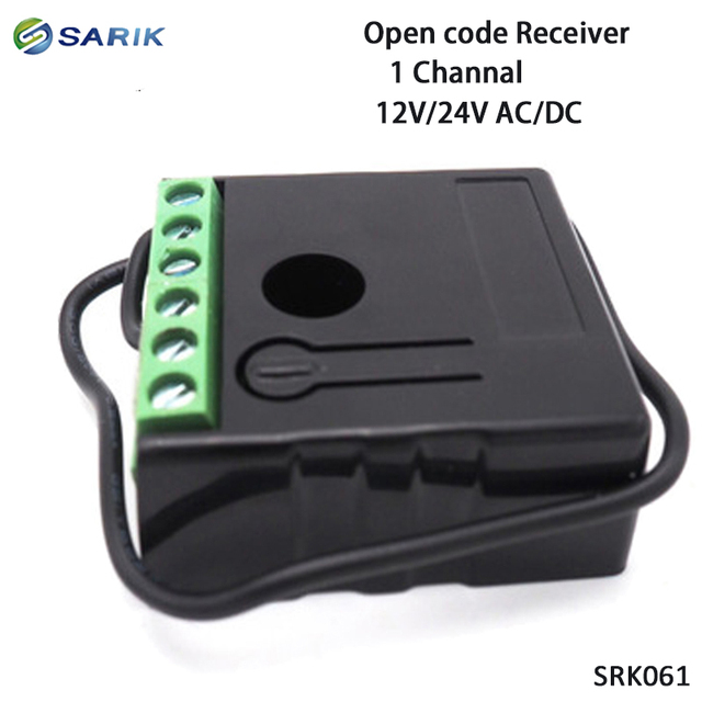 Mini rf sem fio interruptor de controle remoto 12 v 24 v 1 canal rf receptor 433mhz multi função