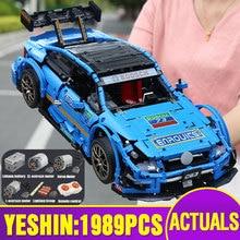 13073 app técnica carro compatível com MOC 6687 motorizado amged c63 dtm modelo de carro blocos de construção tijolos crianças presentes natal