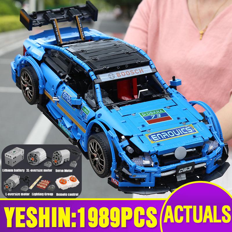 Yeshin 20005 Technic Car Series Compatible With MOC-6687 Motor Speed Car Set Building Blocks Bricks App Control RC Cars Kid Toys