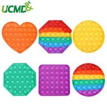 Brinquedos de silicone kneadable repetidamente poke bolhas para aliviar o estresse brinquedos para adultos e crianças que pensam brinquedos