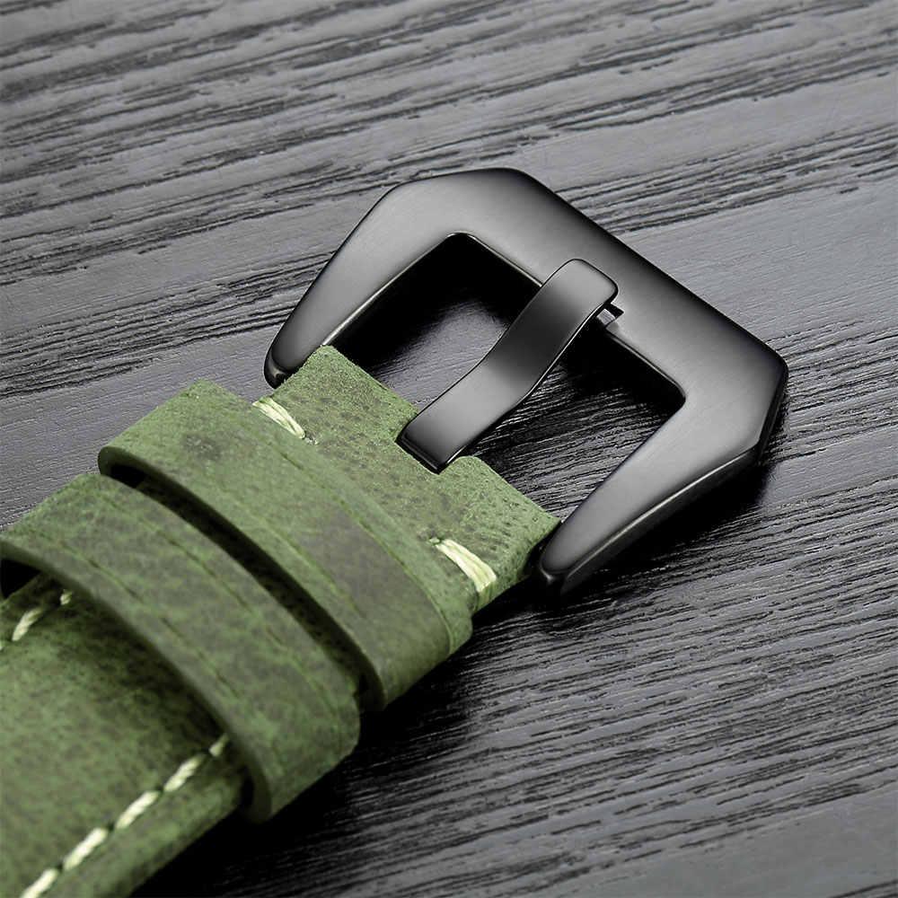 20mm 22mm עור אמיתי צפו בנד עבור Amazfit Huawei סמסונג גלקסי שעון Active2 46mm 42mm הילוך s3 רצועת החלפת רצועות