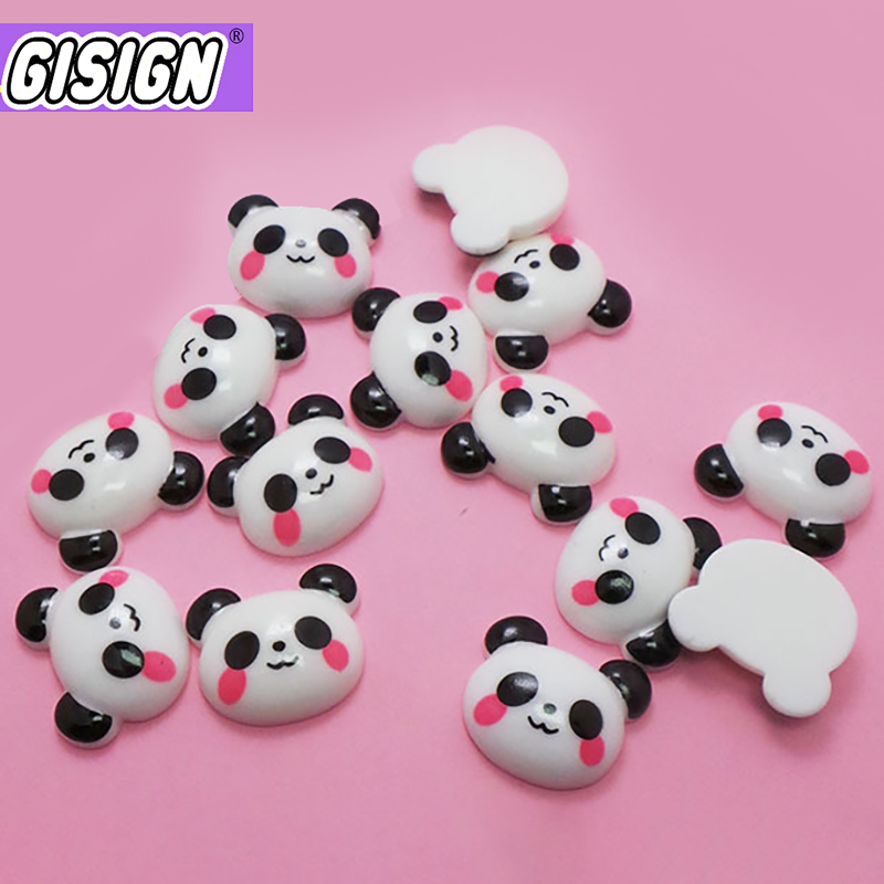 Cute Panda Resin Charms For Slime Addition Accessories Extras For Slimes Supplies Filler Diy Polymer Clay Lizun Model Tool Toys