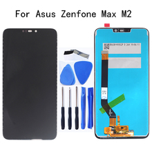 6.26 AAA LCD For Asus Zenfone Max M2 LCD Display+Touch Screen Digitizer Assembly For Zenfone Max M2 ZB633KL/ZB632KL Repair kit jianglun for huawei m2 a01w m2 a01l lcd display touch screen digitizer glass assembly